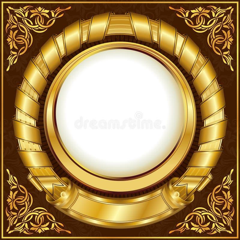 Gold vintage frame stock illustration