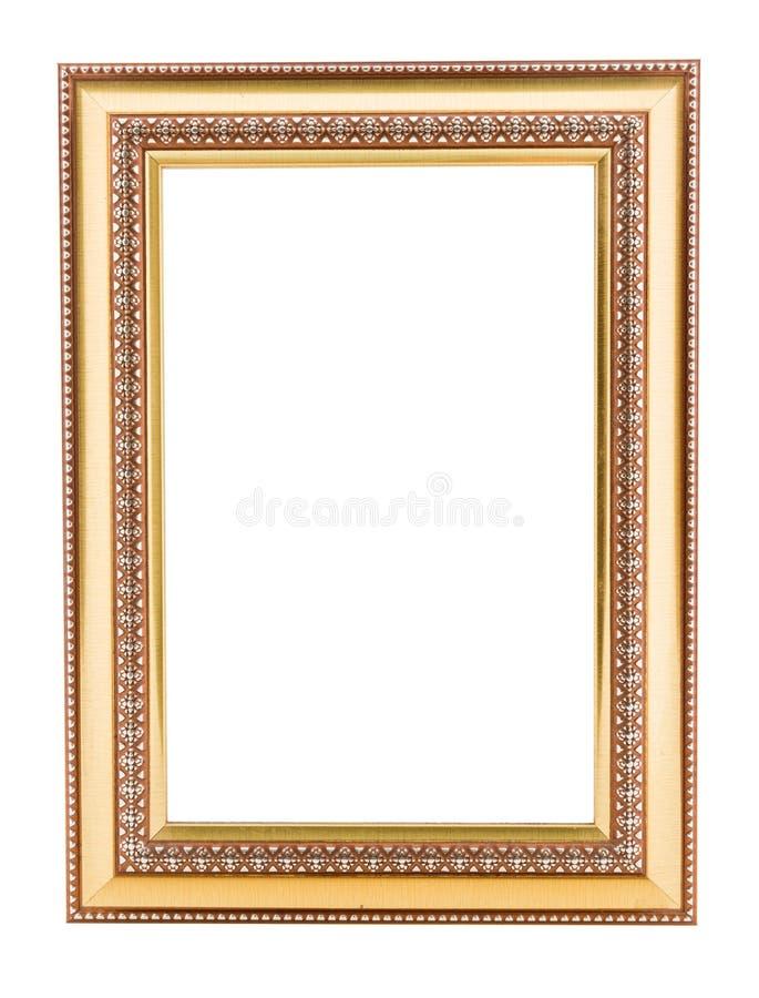Gold vintage frame. Elegant vintage gold/gilded picture frame wi stock images