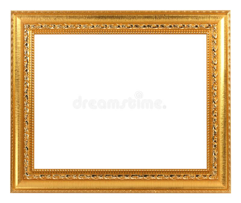 Gold Vintage Frame ISOLATED on White Background royalty free stock photos
