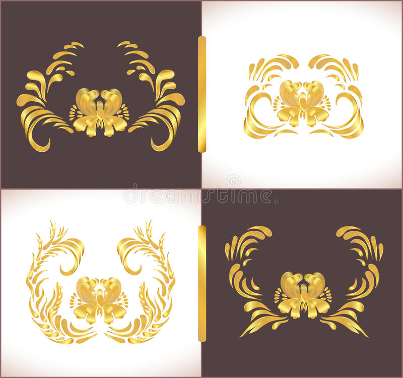 Gold vintage frame scroll ornament abstract golden frame stock decorative luxury greeting card or invitation template celebration background with golden ornament vector golden border for design template stopboris Image collections
