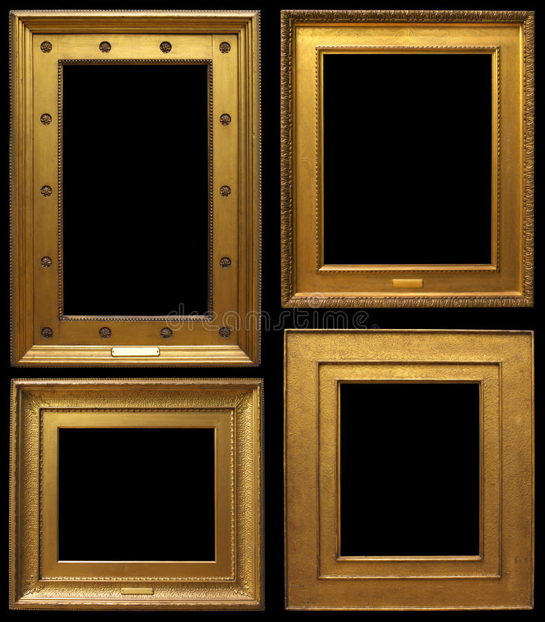 Gold Vintage Frames royalty free stock photo