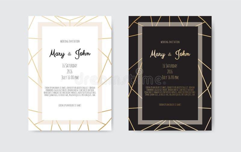 Gold vintage greeting card on a black background. Gold vintage greeting card on a black background vector illustration