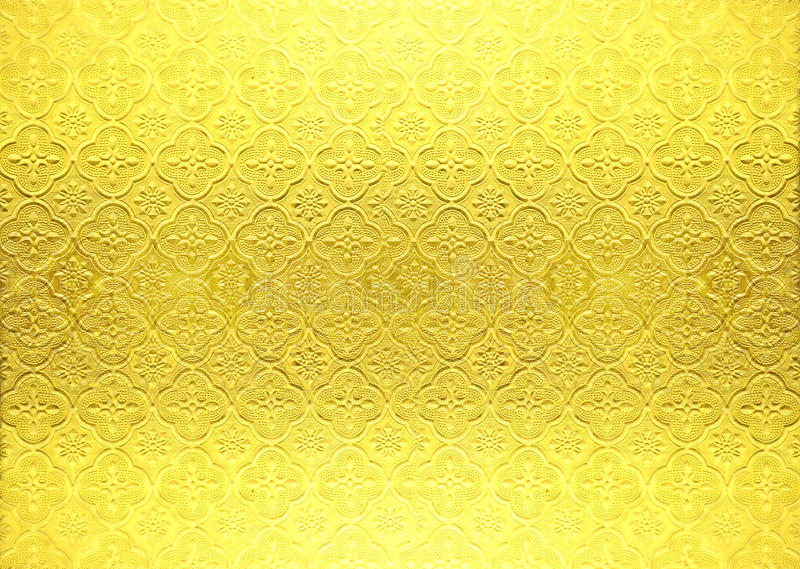 Gold vintage wallpaper. For presentations royalty free stock image