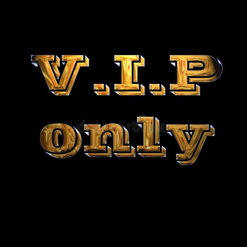 Gold-VIP-Reservierungszeichen vektor abbildung