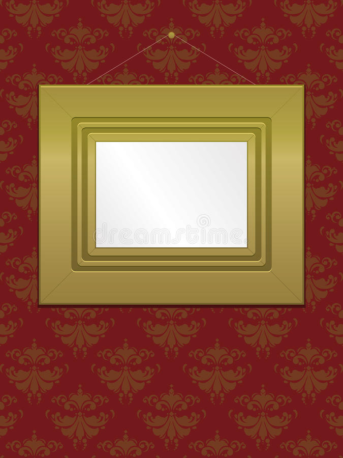 Download Gold Wall Frame EPS stock vector. Illustration of cord - 15662804