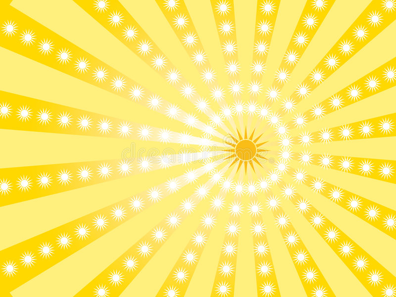 Gold wallpaper with sun royalty free stock photo