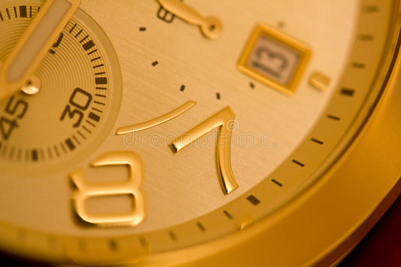 Download Gold Watch stock photo. Image of instrument, business - 26149624