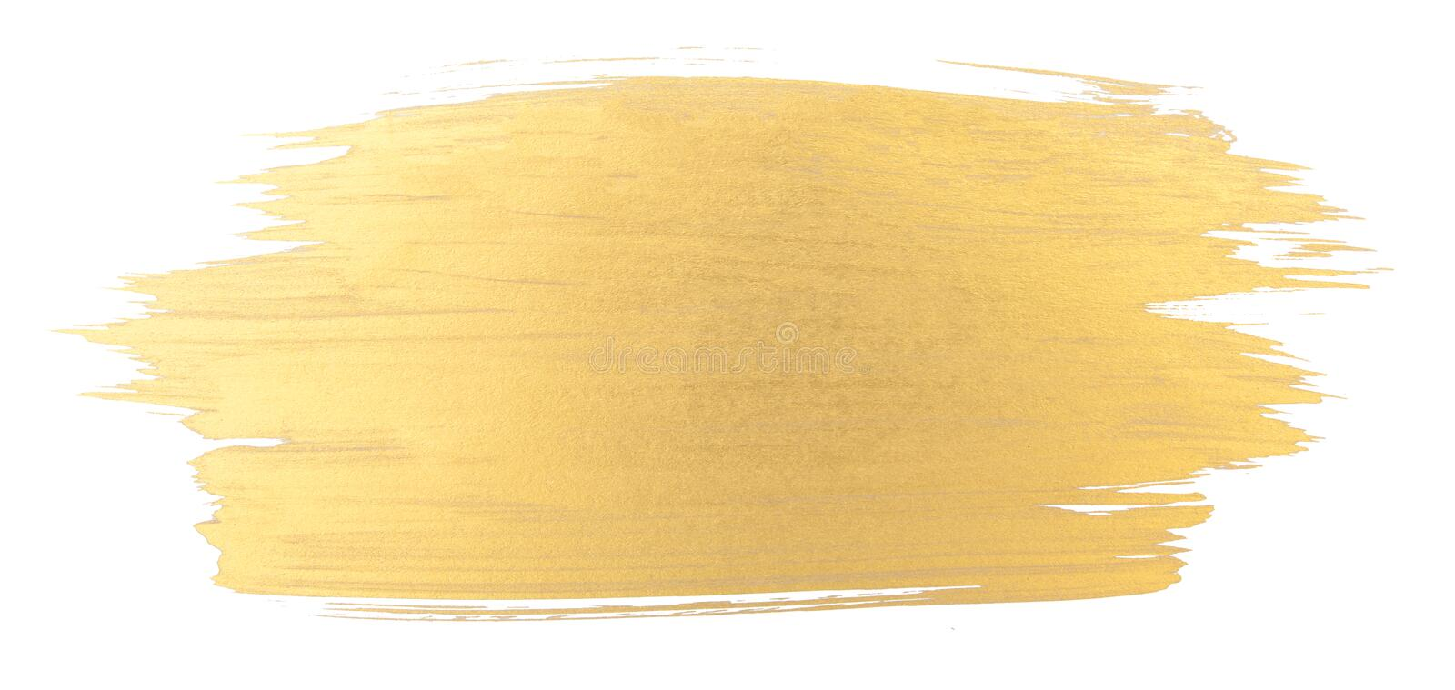 Gold watercolor texture brush stroke. Gold watercolor texture paint stain shining brush stroke stock images