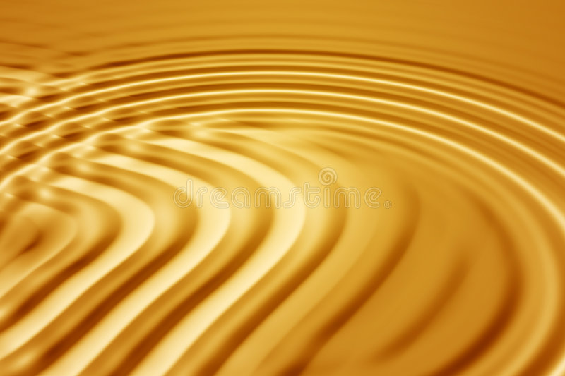Gold waves royalty free illustration
