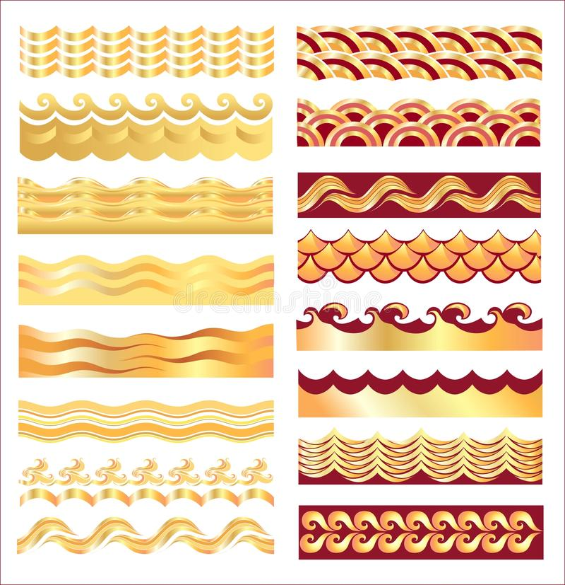 Gold  Waves Royalty Free Stock Photography