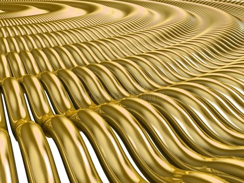 Download Gold Waves stock illustration. Illustration of expensive - 4216888