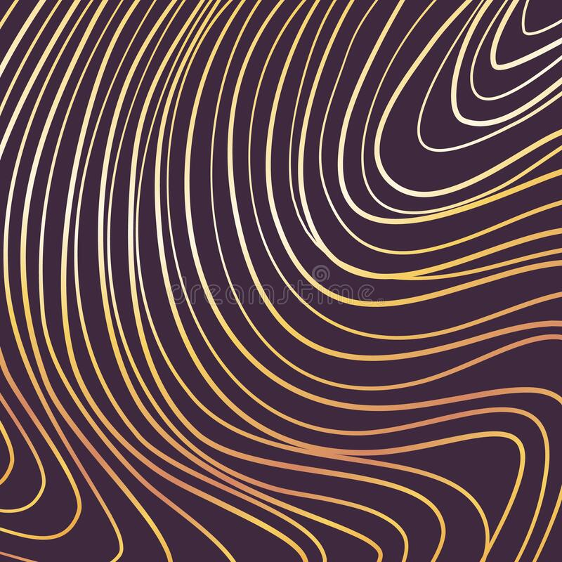 Free Gold Waves Template Design Black Paper Background Vector Illustration Royalty Free Stock Image - 207804846