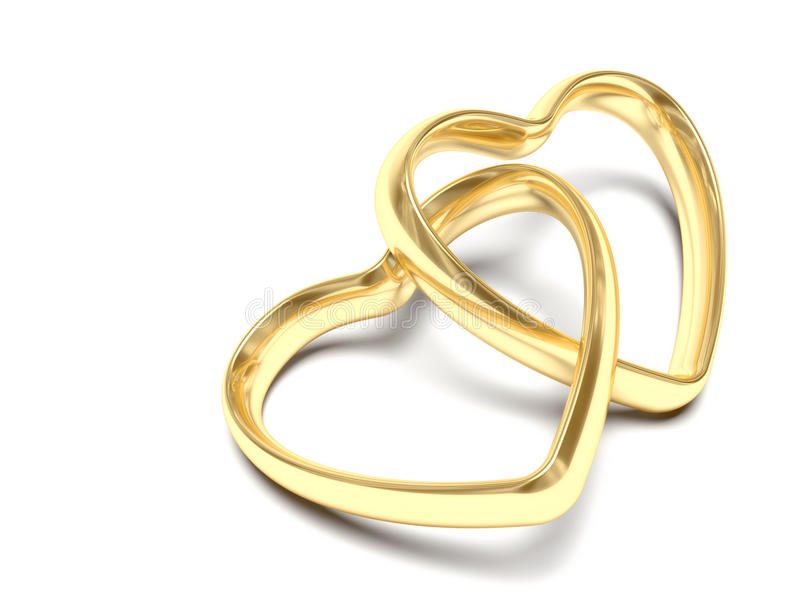 Gold wedding rings stock illustration Illustration of valentine