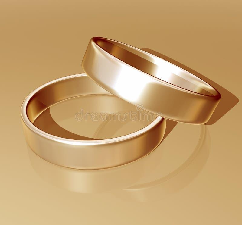 Download Gold wedding rings stock illustration. Image of pair, rings - 1998871