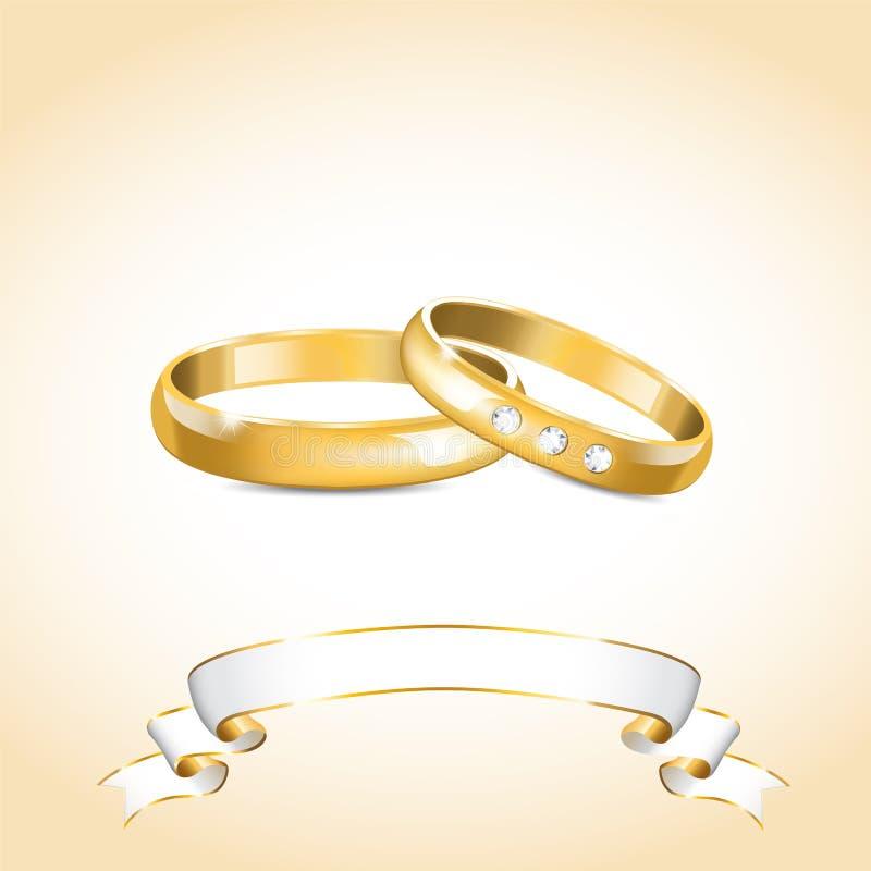 Free Gold Wedding Rings Stock Photo - 27418210