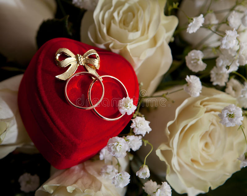 Download Gold Wedding Rings Of The Groom And The Bride Stock Photo - Image: 25445990