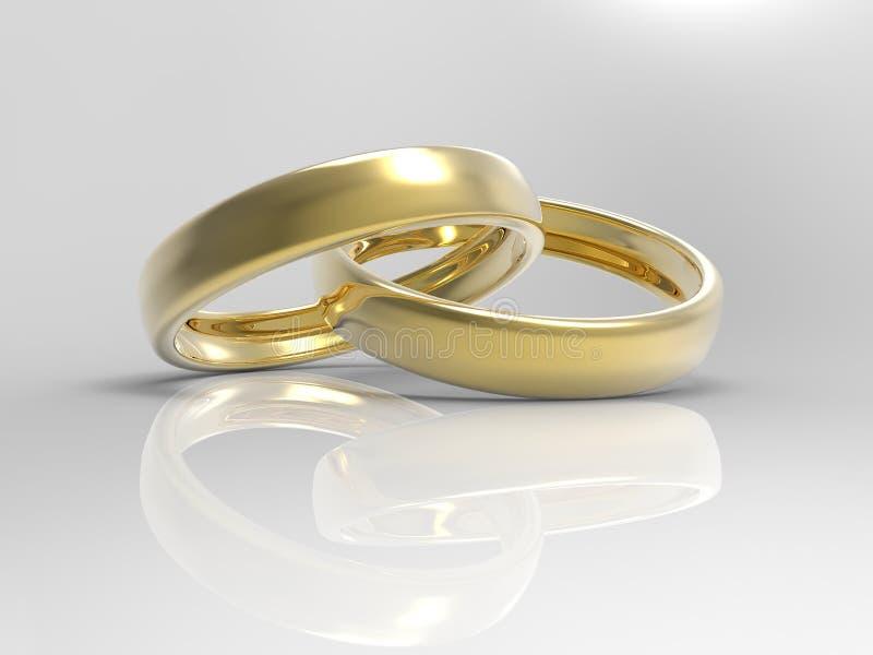 Gold Wedding Rings stock photos
