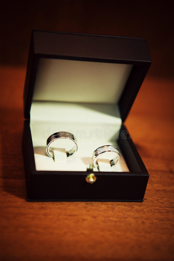 Gold wedding rings. On the pincushion royalty free stock images