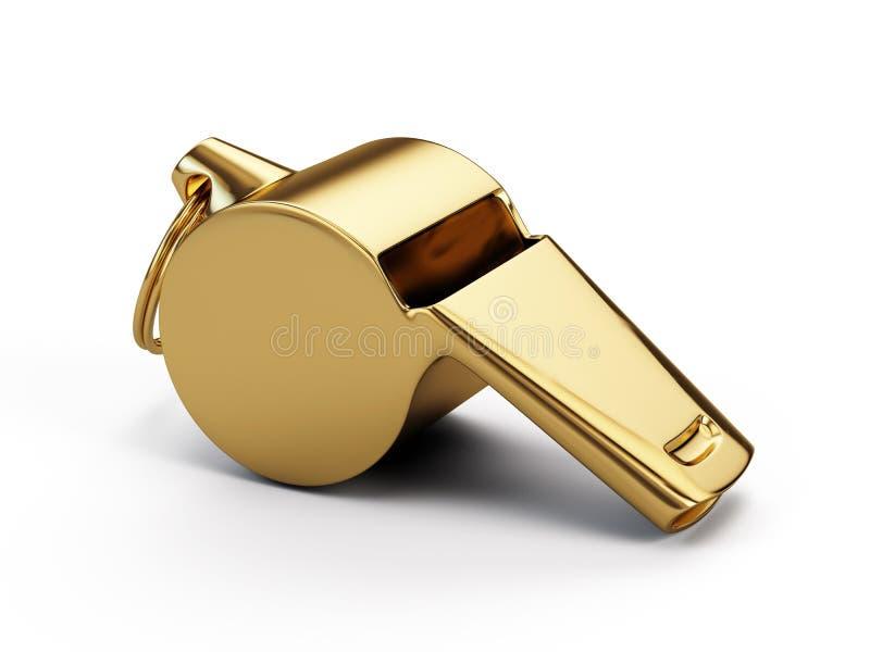 Gold whistle stock illustration