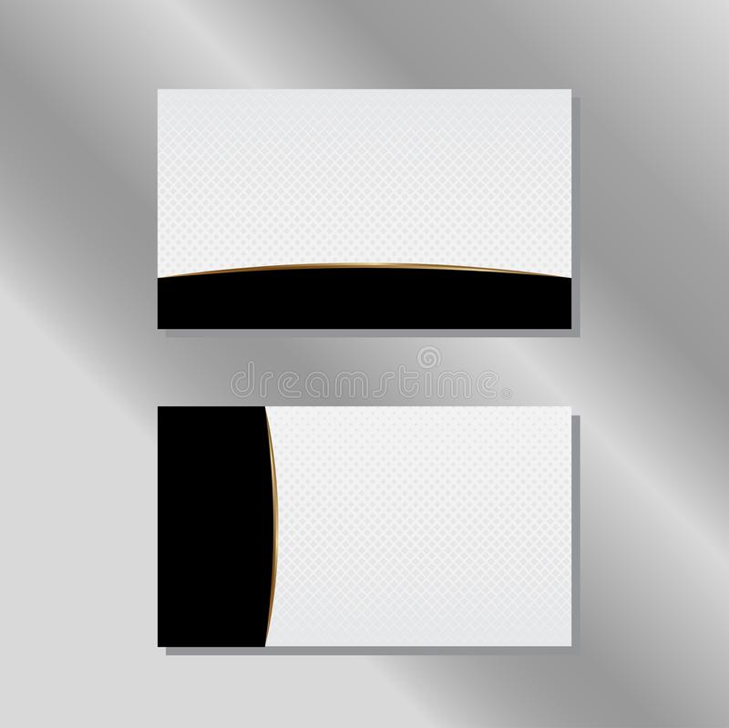 Gold, White and Black Business Card Vector stock illustration