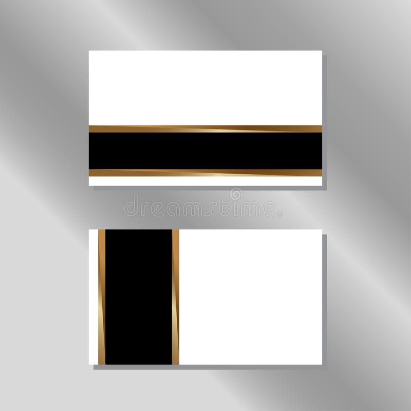 Gold, White and Black Business Card Vector vector illustration