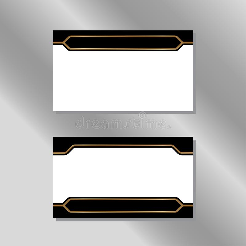 Gold, White and Black Business Card Vector royalty free illustration