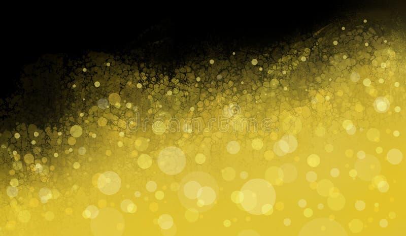 Gold white Christmas lights blurred background royalty free illustration