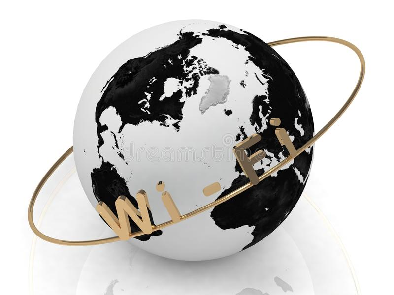 Download Gold Wi-Fi And Gold Ring Stock Photography - Image: 26116132