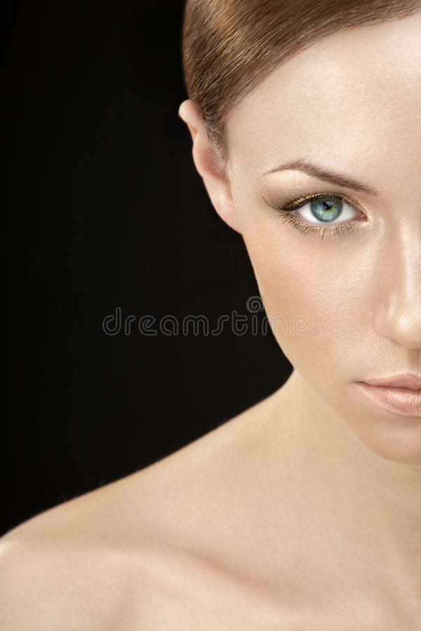 The gold woman royalty free stock photo