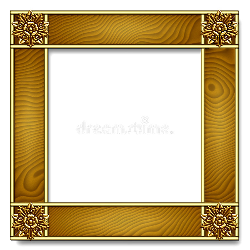 Download Gold & wood Frame stock image. Image of deco, exhibition - 1369691