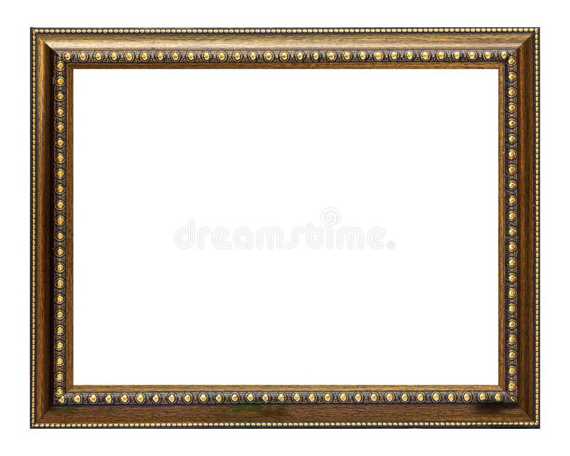 Download Gold and wood frame stock photo. Image of mirror, gold - 16595440