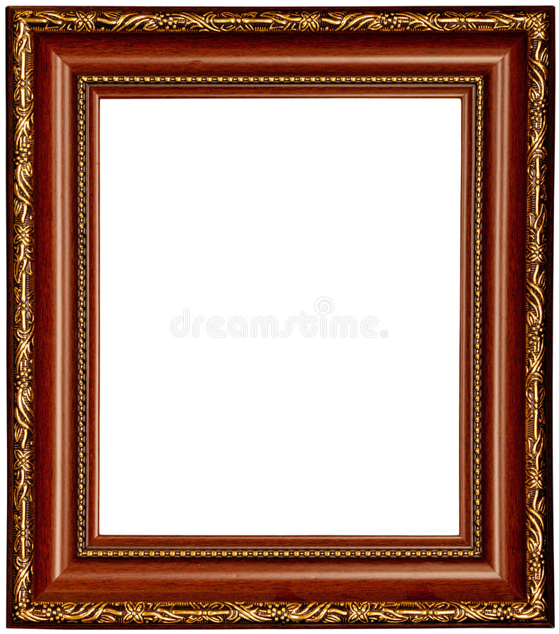 craft ideas for picture frames gold and wood frame stock image image of image gold 6221