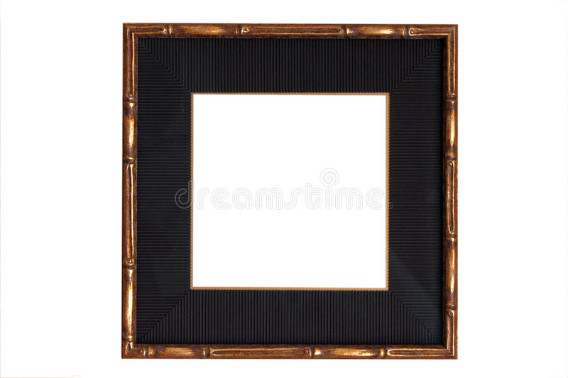 Download Gold Wooden Frame With Black Mat Stock Image - Image: 9896091