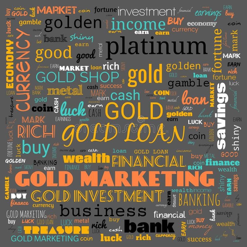 Gold word cloud, text, word cloud use for banner, painting, motivation, web-page, website background, t-shirt & shirt printing,. Poster, gritting, wallpaper &# royalty free stock images