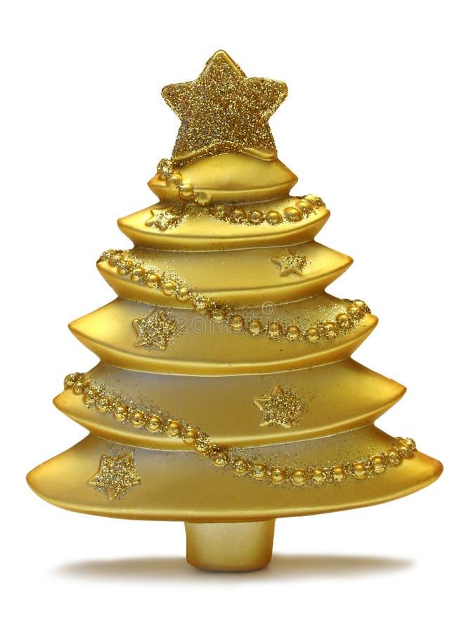 Free Gold Xmas Tree Royalty Free Stock Photos - 3660878