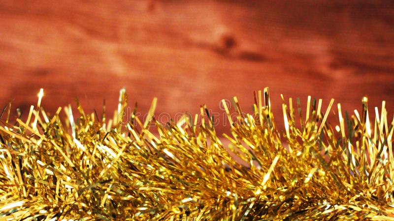 Gold and yellow bokeh background christmas. Object royalty free stock photography