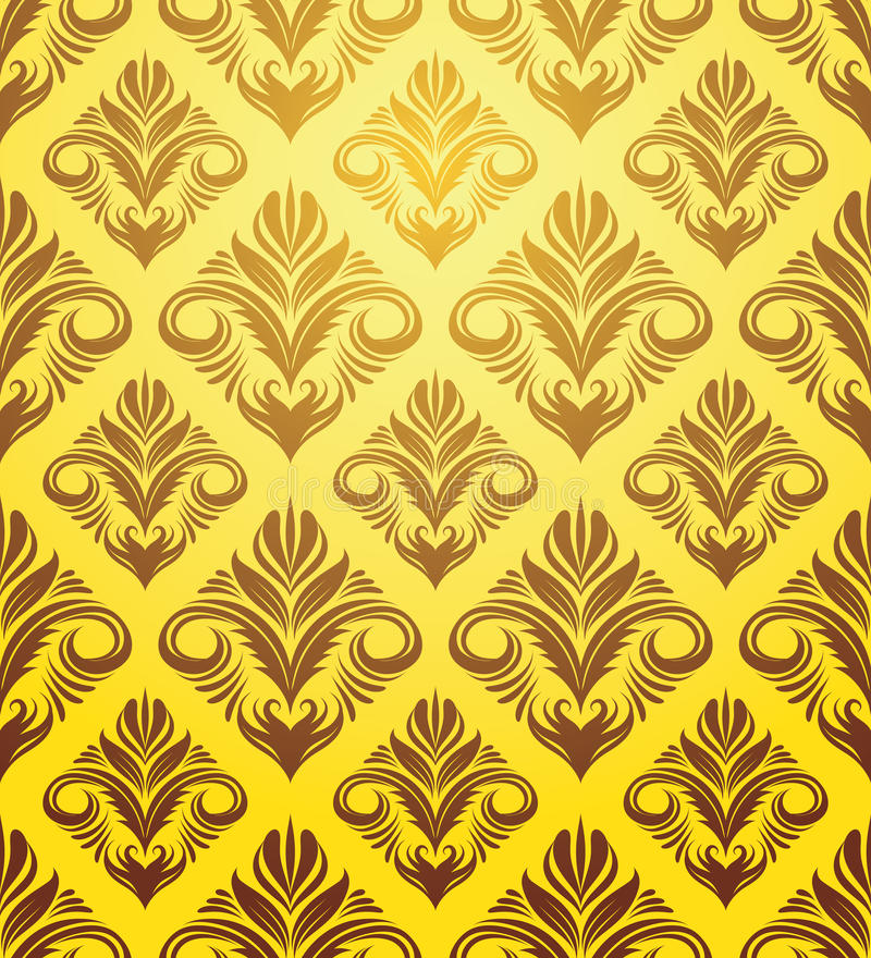 Free Gold Yellow Ornament Pattern Stock Photos - 30534053