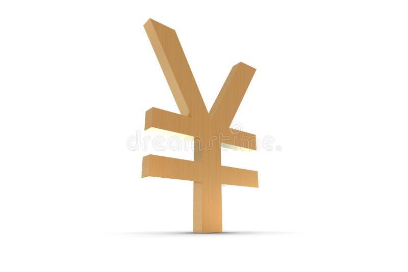 Gold Yen Symbol stock illustration