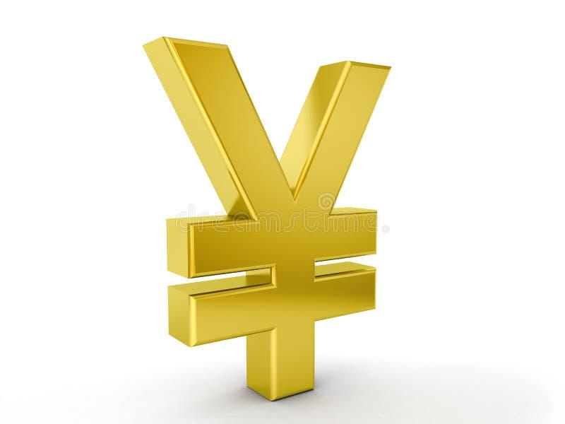 Gold yen symbol vector illustration
