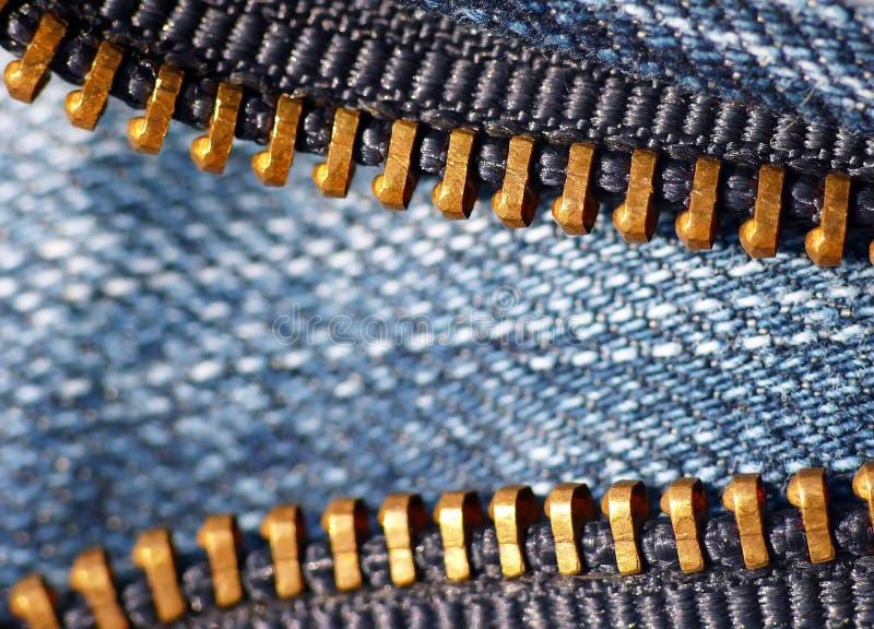 Gold zipper