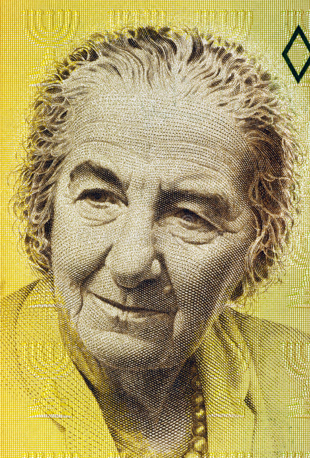 Download Golda Meir editorial stock photo. Image of note, closeup - 29432578