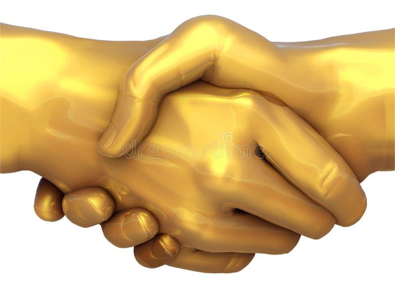 Goldabkommen stock abbildung