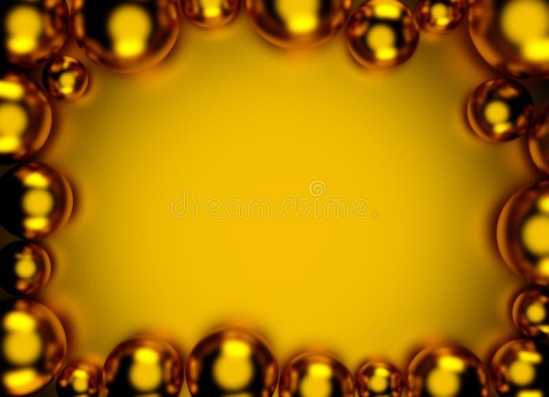 Goldabstrakter Bereich-Ballhintergrund für Ihr Design 3d übertragen vektor abbildung