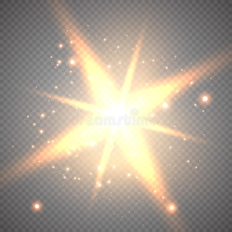 Goldabstrakter bokeh Hintergrund vektor abbildung