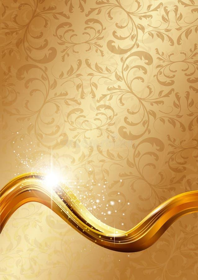 Goldabstrakter Hintergrund lizenzfreie abbildung
