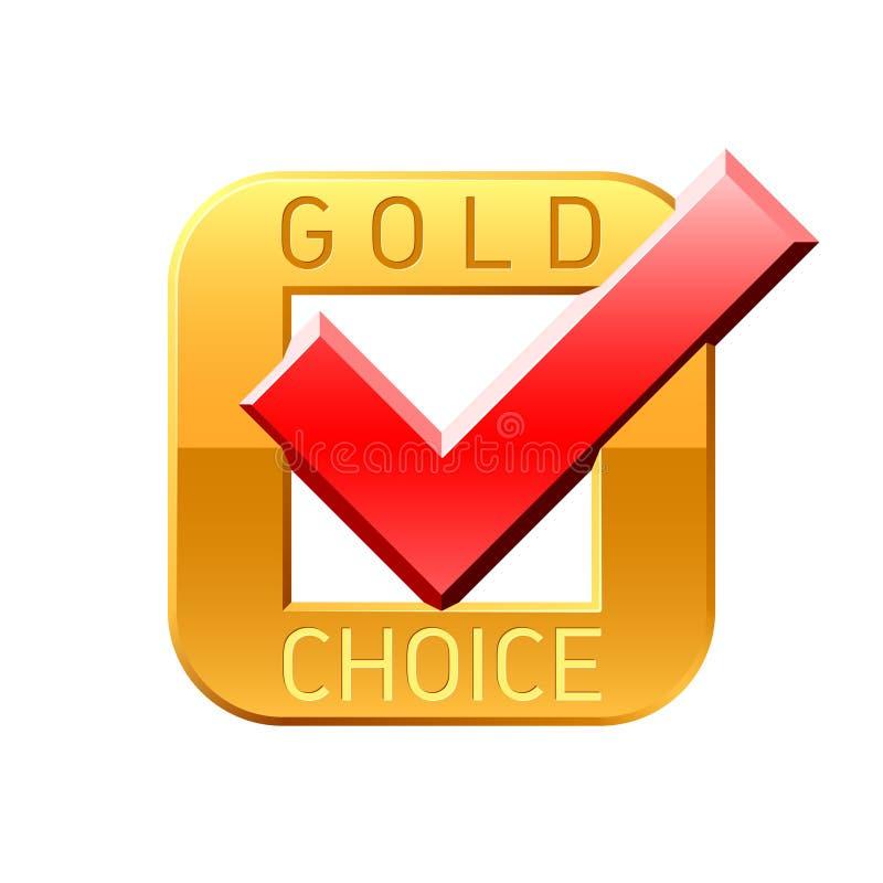 Goldauserlesenes Häckchen lizenzfreie abbildung