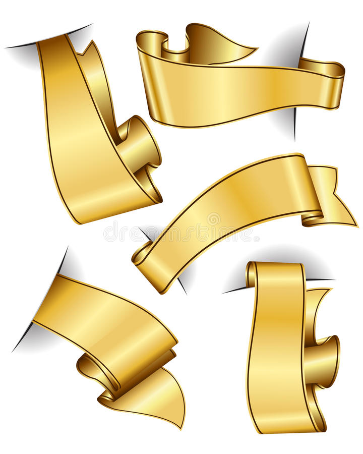 Goldbandsammlung stock abbildung