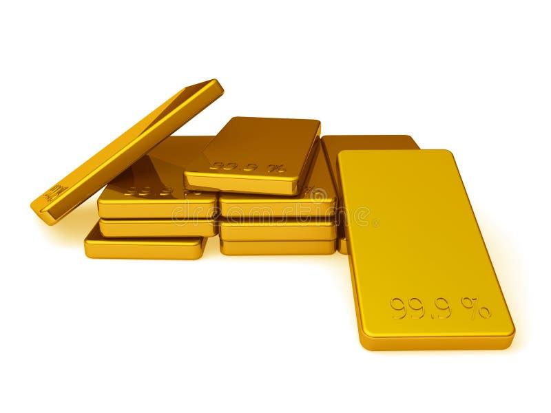 Goldbarren lizenzfreie abbildung