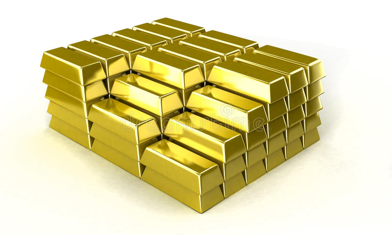 Goldbarren vektor abbildung