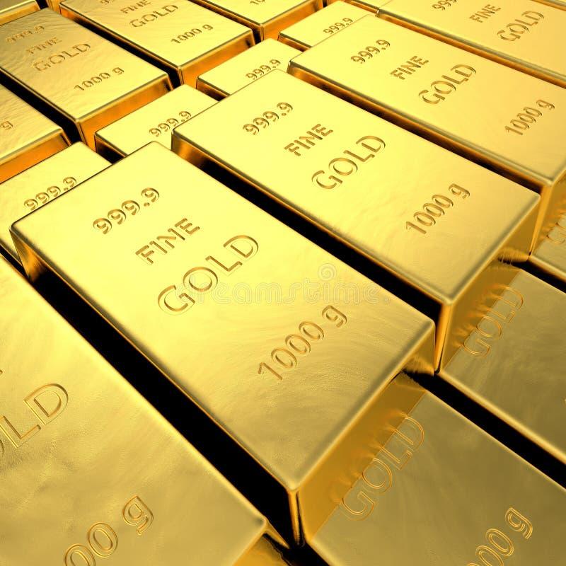 Goldbarren stock abbildung